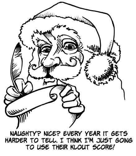 Santa Uses Klout