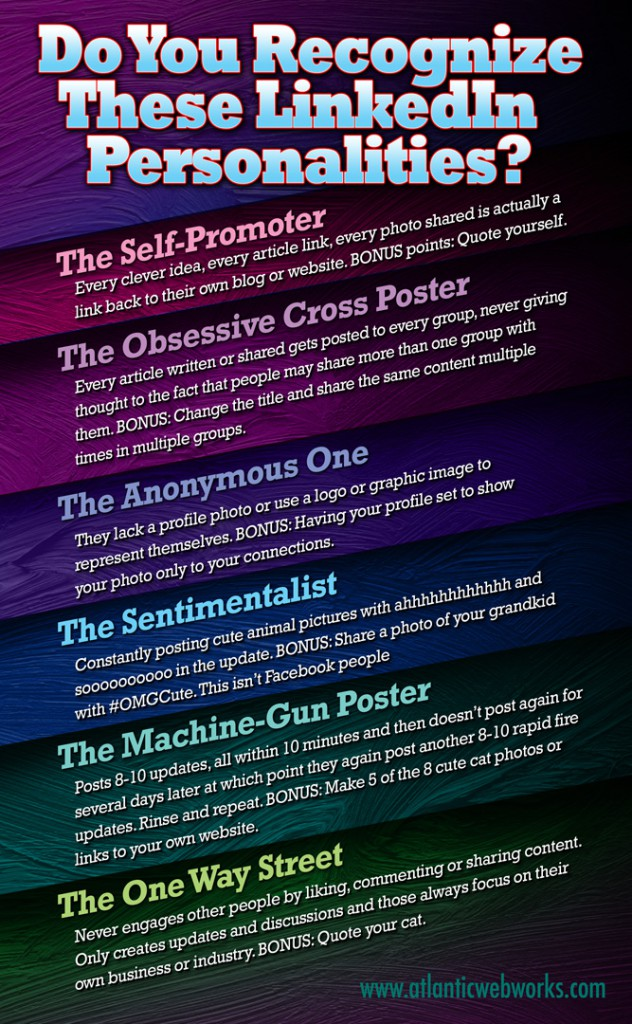 LinkedIn Personalities #InfoGraphic #Humor