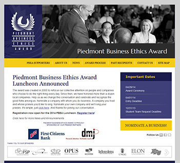 Piedmont Business Ethics Award