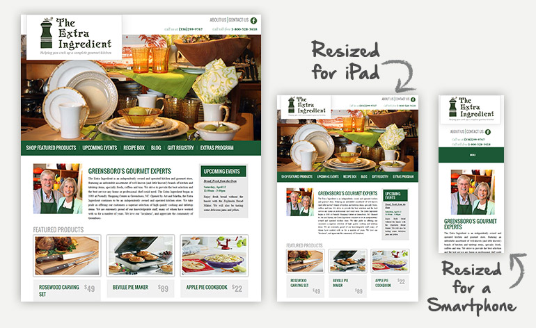 Extra Ingredient Responsive Website Design