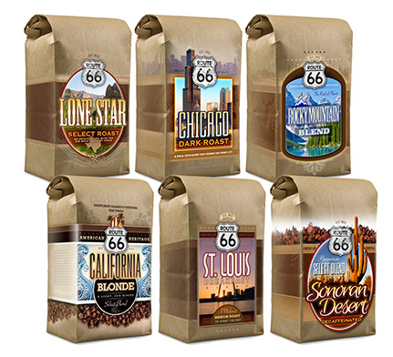 Route 66 Retail Coffee Packaging